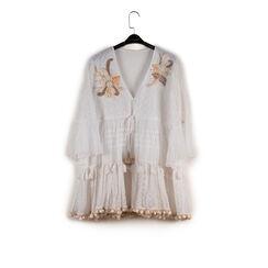 Caftano bianco in tessuto, Primadonna, 150504008TSBIANUNI, 003 preview