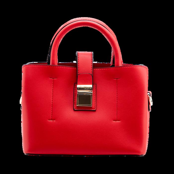 Mini bag rossa in ecopelle con tracolla a bandoliera, Primadonna, 122429139EPROSSUNI
