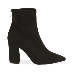 Ankle boots en microfibre noir, talon 9 cm, Primadonna, 164823107MFNERO035, 001 preview