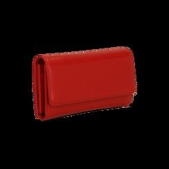 Portafoglio rosso in ecopelle, Saldi, 122200898EPROSSUNI, 003 preview