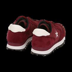 Sneakers bordeaux in microfibra, Scarpe, 140600201MFBORD036, 004 preview
