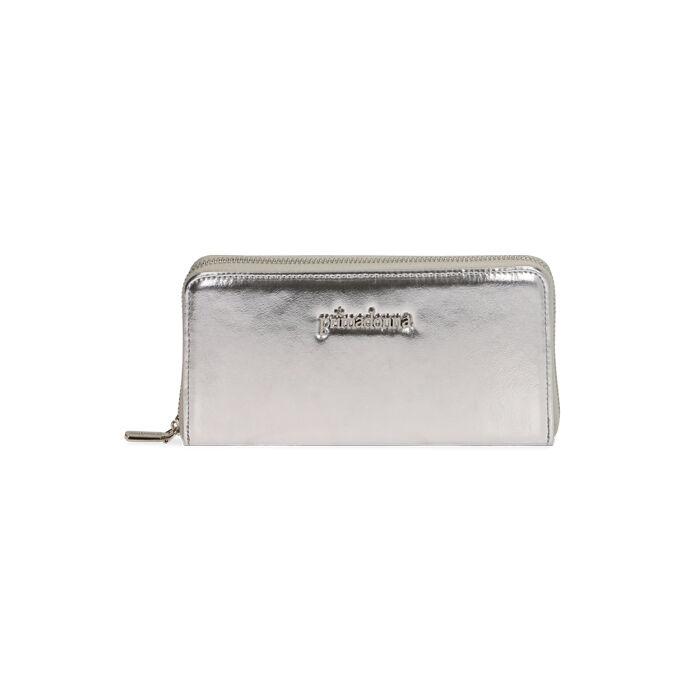 Portafogli argento laminato , Primadonna, 175122519LMARGEUNI