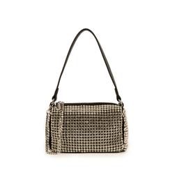 Mini sac noir en simili-cuir avec des strass, Primadonna, 15F520054ETNEROUNI, 001a