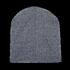 Berretto invernale grigio in tessuto, Saldi Abbigliamento, 12B490743TSGRIG, 003 preview