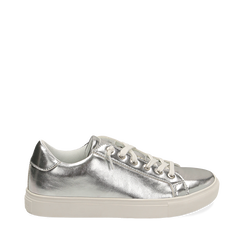 Sneakers argento in laminato, Sneakers, 152621201LMARGE035, 001a