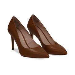 Décolleté cuero de piel, tacón 9 cm, Zapatos, 15D601001VICUOI036, 002 preview