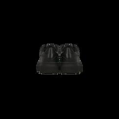 Sneakers nere effetto mirror e suola nera, Scarpe, 129312321EPNERO, 003 preview
