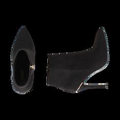 Ankle boots neri in microfibra, tacco 11 cm , Primadonna, 162168616MFNERO037, 003 preview