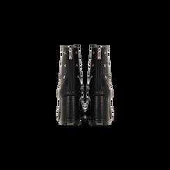 Tronchetti neri, tacco scultura 7 cm, Scarpe, 124911278EPNERO, 003 preview