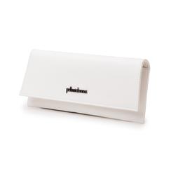 Pochette piatta bianca in eco-pelle, Borse, 145122509EPBIANUNI, 004 preview