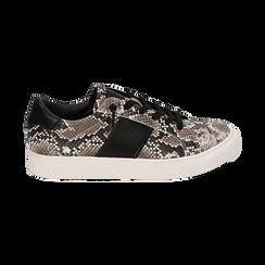 Sneakers bianco/nere stampa pitone, Primadonna, 162619071PTBINE035, 001 preview
