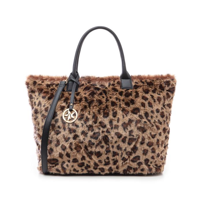 Borsa leopard in eco-fur, Borse, 141918831FULEMAUNI