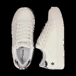Sneakers bianche in eco-pelle dettaglio snake, Scarpe, 132619071EPBIAN036, 003 preview