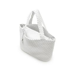 Maxi-bag bianca in eco-pelle intrecciata , Primadonna, 135786118EIBIANUNI, 004 preview