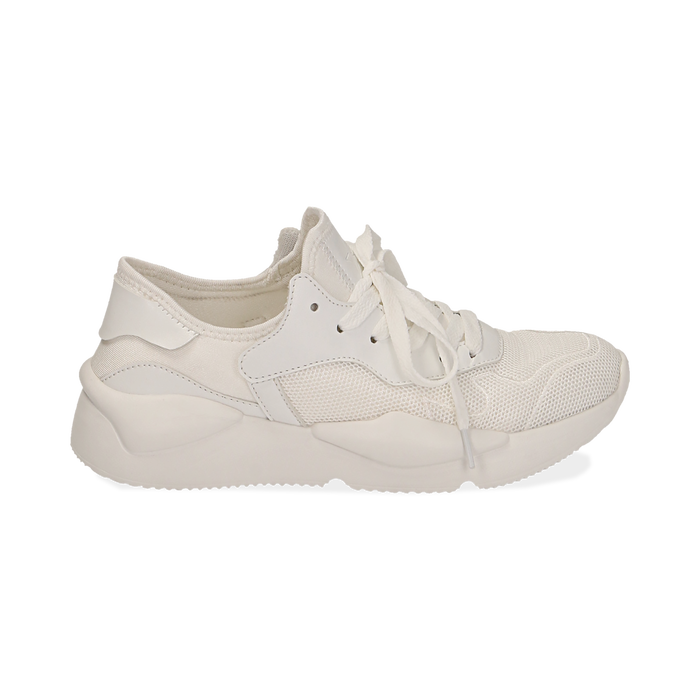 Dad shoes en tejido tecnico color blanco, Zapatos, 15F609059TSBIAN035