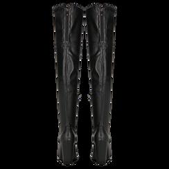 Stivali sopra il ginocchio con tacco 9,5 cm neri, Primadonna, 122186681EPNERO, 003 preview
