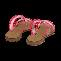 Mules flat fucsia in vernice fluo con effetto see through, Primadonna, 136767001VEFUCS036, 004 preview