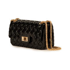 Mini-bag matelassé nera in pvc, Borse, 15C809988PVNEROUNI, 004 preview