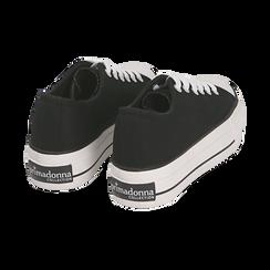 Baskets noir en toile, Chaussures, 152619385CANERO040, 004 preview