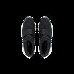 Sneakers nero-blu sock boots con suola in gomma bianca, Scarpe, 124109763TSNEBL, 004 preview