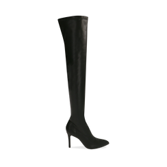 Botas oveknee negro, tacón 9 cm, Primadonna, 162183365EPNERO036, 001a