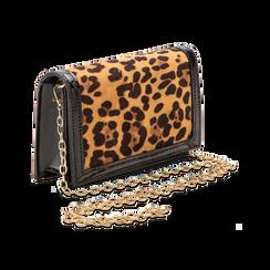 Pochette leopard in microfibra scamosciata con tracolla, Borse, 123308936MFLEOPUNI, 003 preview