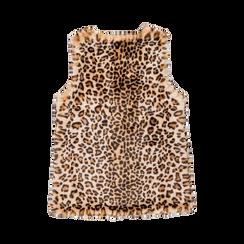 Smanicato di Pelliccia Leopardata, Abbigliamento, 12B400303FULEOP, 005 preview