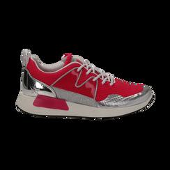 Sneakers fucsia in tessuto tecnico , Scarpe, 132619190TSFUCS037, 001 preview
