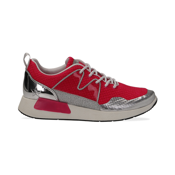 Sneakers fucsia in tessuto tecnico , Scarpe, 132619190TSFUCS037
