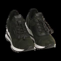 Sneakers en tejido con cuña color camuflaje, Primadonna, 152803421TSMILI037, 002 preview