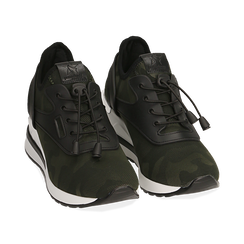 Sneakers camouflage in tessuto con zeppa, Primadonna, 152803421TSMILI037, 002 preview
