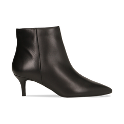 Tronchetti neri in vera pelle, tacco a rocchetto 6 cm, Primadonna, 12D618402VINERO036, 001 preview