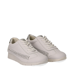 Sneakers bianche in eco-pelle , Scarpe, 130609571EPBIAN035, 002a