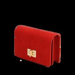 Borsa piccola rossa in microfibra , IDEE REGALO, 165122947MFROSSUNI, 002a