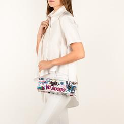 Pochette blanche verni avec un imprimé graffit, Sacs, 155122738VEBIMUUNI, 002 preview
