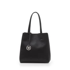 Maxi-bag nera in eco-pelle , Borse, 135786734EPNEROUNI, 001a