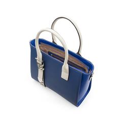 Borsa grande blu in eco-pelle con borchie, Borse, 131900944EPBLUEUNI, 004 preview