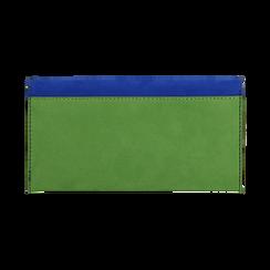 Portafogli blu cobalto in microfibra, Borse, 153731639MFBLCOUNI, 004 preview