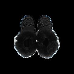 Scarponcini invernali neri con risvolto in eco-fur, Primadonna, 125001328MFNERO, 004 preview
