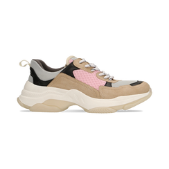 Sneakers beige dad shoes, Scarpe, 124180229TSBEIG, 001 preview