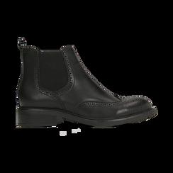 Chelsea Boots neri, lavorazione Duilio, Scarpe, 120618206EPNERO040, 001 preview