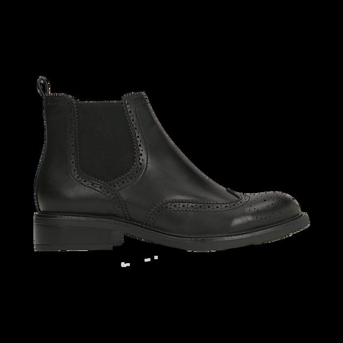 Chelsea Boots neri, lavorazione Duilio, Scarpe, 120618206EPNERO040