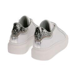 Sneakers bianco/nero in pelle, Primadonna, 17L600103PEBINE035, 004 preview