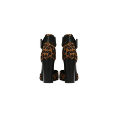 Décolleté leopard con maxi cinturino, tacco 9 cm, Scarpe, 124895575MFLEOP, 003 preview