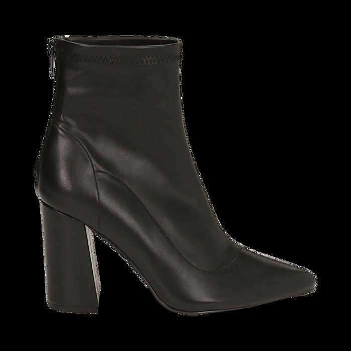 Ankle boots neri, tacco 9 cm , Primadonna, 164823107EPNERO035