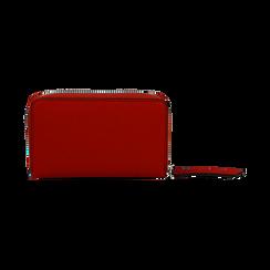 Portafoglio compatto rosso in eco-pelle, Borse, 133731344EPROSSUNI, 004 preview