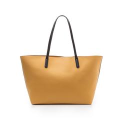 Maxi-bag gialla in eco-pelle con manici neri, Borse, 133783134EPGIALUNI, 003 preview