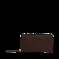 Portafogli marrone in eco-pelle, Borse, 143723503EPMARRUNI, 001a