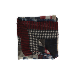 Pashmina beige in tessuto stampa patchwork, Abbigliamento, 14B404027TSBEIG3XL, 001 preview