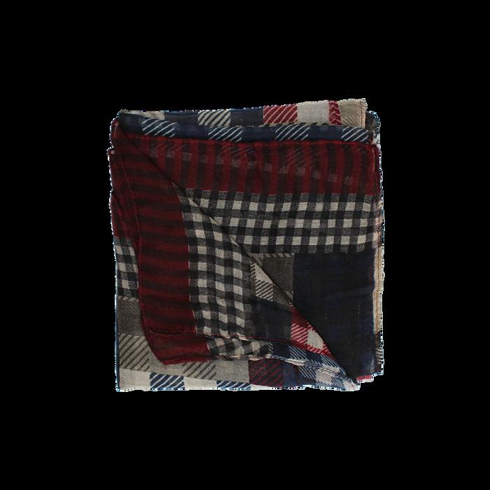Pashmina beige in tessuto stampa patchwork, Abbigliamento, 14B404027TSBEIG3XL